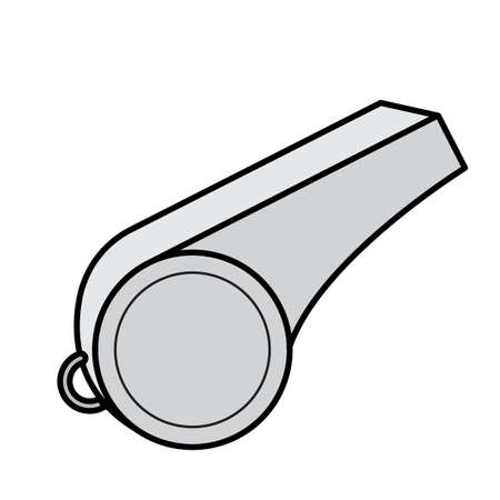 Simple flat color whistle icon vector Ilustrace