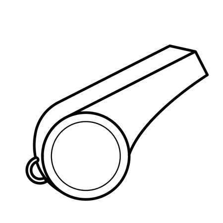 Simple thin line whistle icon vector