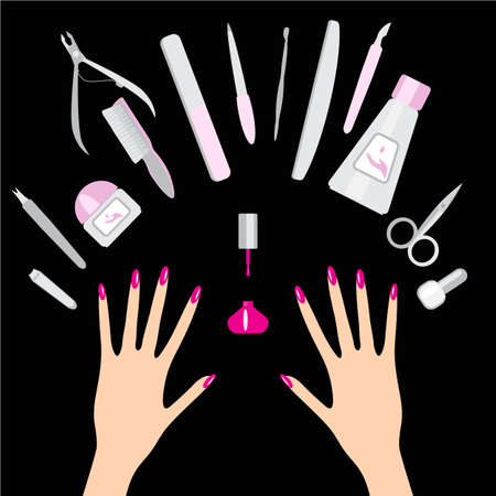 salon background: Nail art salon concept background