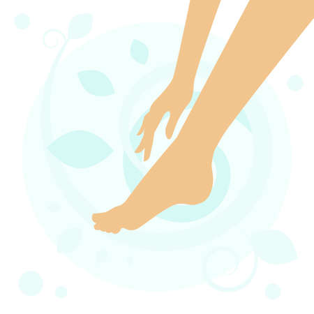 foot care: foot symbol. Element for design. Foot care.  Foot cosmetics.