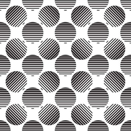 ripply: Striped circles vector background.  Vintage white pattern with grunge polka dots seamless