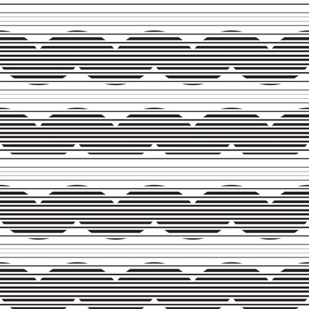 ripply: Striped circles vector background. Seamless pattern circles and waves in thin line style. Illustration