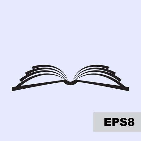 vecteur de livre Open simple icône. Magazine, la bibliothèque ou le logo de l'école isolé, symbole de l'éducation