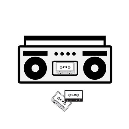 boombox: Boombox vector icon isolated on white.