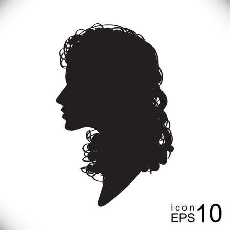 head profile: Female head silhouette, female head profile, female head icon