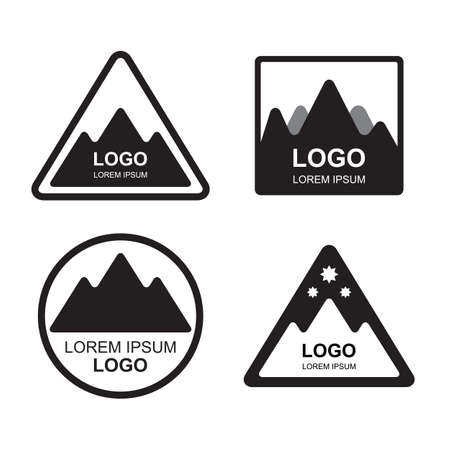outdoor activities: Set of Retro Vintage Summer Camping Badges. Mountain Adventures and Outdoor Activities Illustration