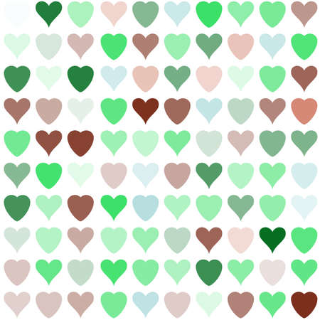 ticker: Simple vector hearts pattern. Colorful stylized ticker background for paperhangings, wrapper, contexture, weft, fabric, cover Illustration