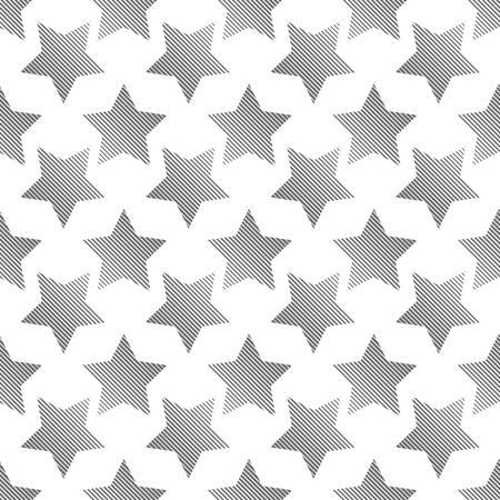 estrellas cinco puntas: sin patrón de estrellas de cinco puntas negras con bandas aisladas sobre fondo blanco Vectores