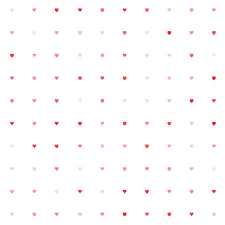 bosom: Simple vector hearts pattern. Colorful stylized ticker background for paperhangings, wrapper, contexture, weft, fabric, cover Illustration