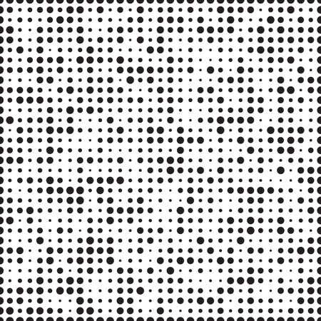 Résumé monochrome tramée motif géométrique, seamless fond. Simple texture noir et blanc répéter. graphique de contraste moderne avec des points, cercle, boule ou d'un point.