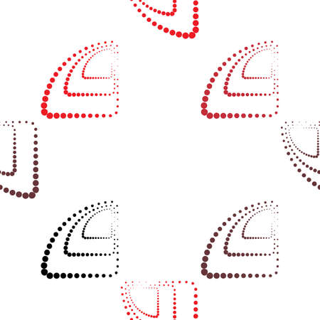 red point: Abstract monochrome geometric pattern, seamless vector background. Simple black, red and white repeating texture. Modern contrast graphic with dots, circle, ball or point. Illustration