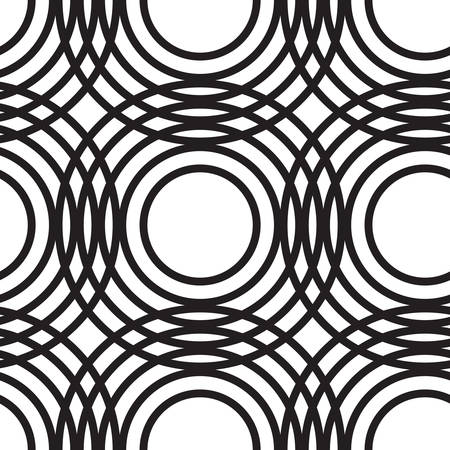 fissure: Monochrome abstract geometric circles seamless pattern. Endless elegant texture, tempate for design fabric, backgrounds, wrapping paper, package, covers