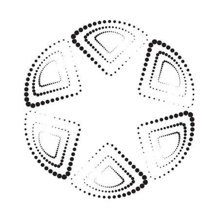ball point: Abstract monochrome geometric pattern, vector background. Simple black and white texture. Modern contrast graphic with dots, circle, ball or point.