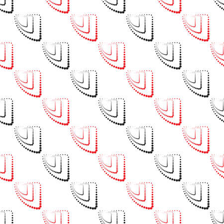 ball point: Abstract geometric pattern, seamless vector background. Simple black, red and white repeating texture. Modern contrast graphic with dots, circle, ball or point.
