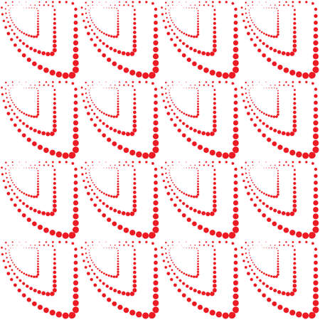 ball point: Abstract monochrome geometric pattern, seamless vector background. Simple red repeating texture. Modern contrast graphic with dots, circle, ball or point.