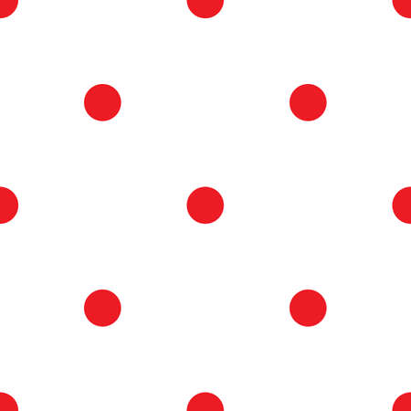 ball point: Abstract monochrome geometric pattern, seamless vector background. Simple red and white repeating texture. Modern contrast graphic with dots, circle, ball or point. Illustration