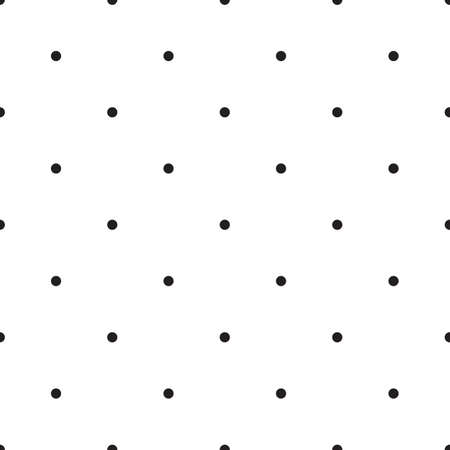 Abstract monochrome simple geometric pattern, seamless vector background. Simple black and white repeating texture. Modern contrast graphic with dots, circle, ball or point.