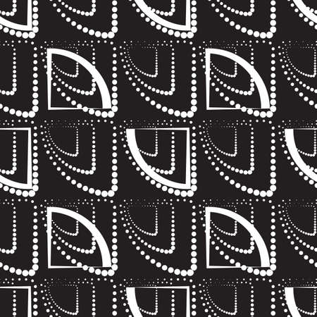 ball point: Abstract monochrome geometric pattern, seamless vector background. Simple black and white repeating texture. Modern contrast graphic with dots, circle, ball or point. Illustration