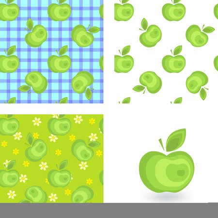 colection: Apple background pattern colection for advertising, design, web, tissue packaging