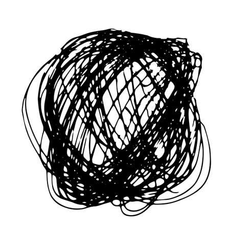 garabatos: Plantilla de la frontera Doodle lápiz. Extraer las manos de fondo garabatos círculo
