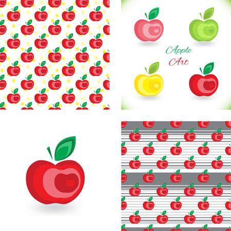 colection: Apple background pattern colection for advertising, design, web, tissue, packaging