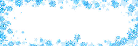 Vector New Year or Christmas background with snowflakes border