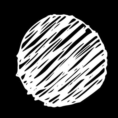 scrawl: Pencil Doodle Border Template. Hand Drawn Scribble Circle Background Illustration