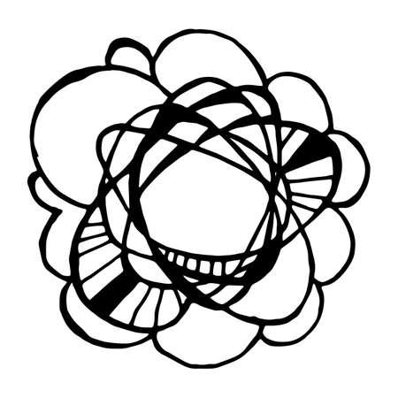garabatos: dibujado mano simple plantilla de círculo. doodle de la Ronda de elementos del bosquejo del vector Vectores