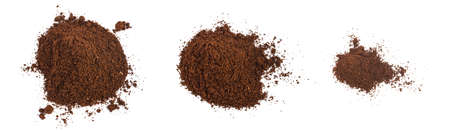 Heap of fine grinding coffee powder isolated on the white background Stock Photo