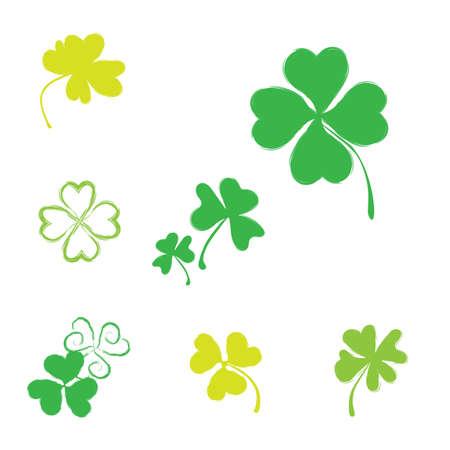 Feliz Día De San Patricio - Verde Trébol Irlandés De Cuatro Hojas ...
