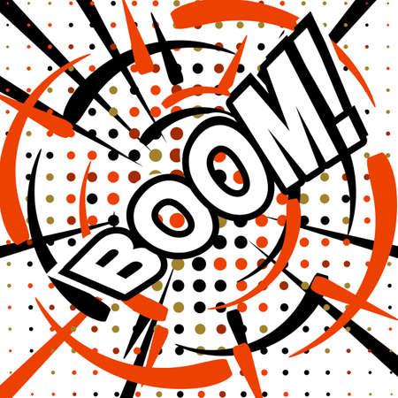 dinamita: BOOM Comic speech bubble cartoon, vector illustration