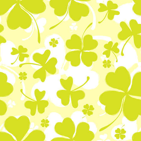 leafed: Spring or Summer Pattern with Green Clover
