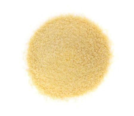 Montón de gránulos o polvo de gelatina pequeños secos. Gelling Agent for Food and Photography Foto de archivo - 75007810