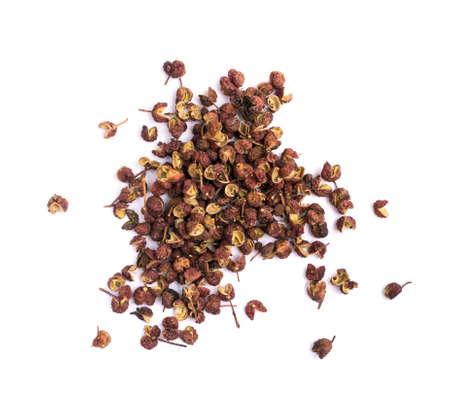 Allspice or zanthoxylum or Jamaica pepper Isolated on White Background