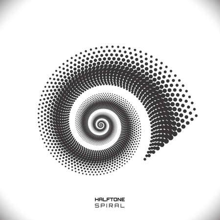 83031029 abstract monochrome swirl or spiral form made with dots dotted spiral pattern vector eps8 black and white tornado illustration