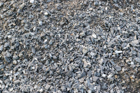 clear path: Gray Gravel Background or Texture. Small stones photography pattern