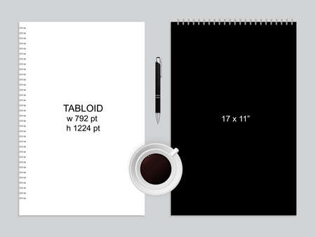 Spiral binding notebook or notepad and pen
