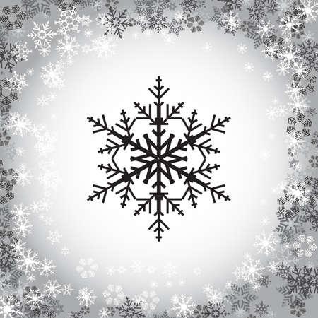 Simple Snowflake vector Illustration