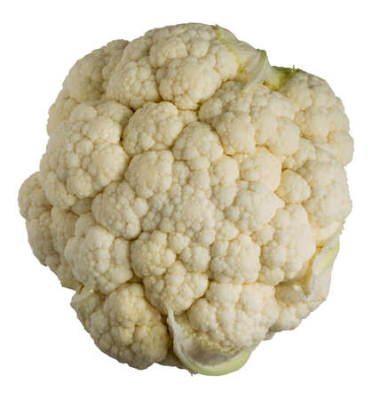 Fresh cauliflower isolated on white background Standard-Bild