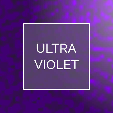 Beautiful Ultra Violet Glowing Square Background. Trendy 2018 Ultraviolet Color Creative Texture with Space for Text  イラスト・ベクター素材