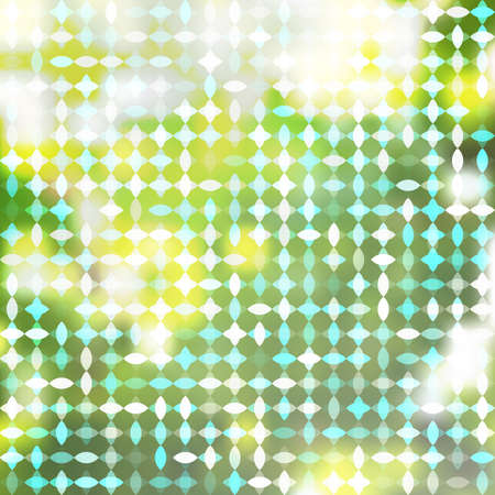 Abstract Vector Background on the Theme of Sunny Summer Morning in Green and Lime Punch Trendy 2018 Color