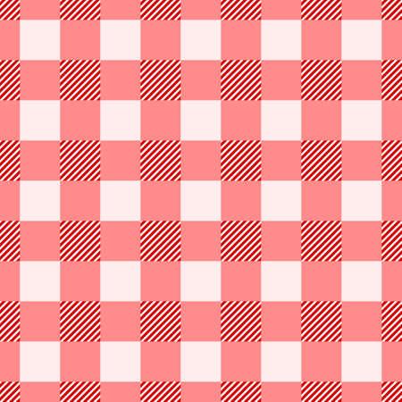 Modèle sans couture vichy pour la conception de tissu de restaurant ou de tissu écossais. Fond de nappe à carreaux traditionnel. Illustration vectorielle écossais