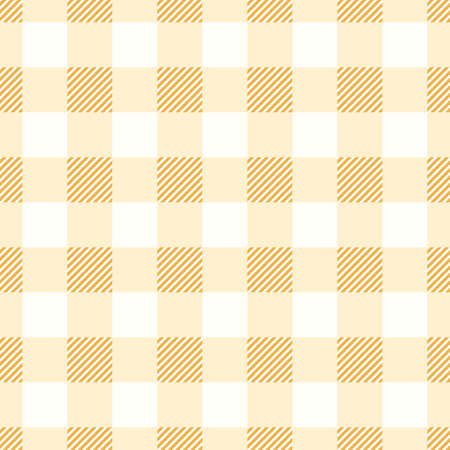 Gingham seamless pattern for restaurant cloth or scotland fabric design. Traditional checkered tablecloth background. Scottish vector illustration Vecteurs