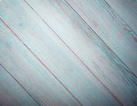 Beautiful vintage pale azure wood background. Old painted wooden table surface. Rustic turquoise desk board or plank texture with copyspace Stock Photo