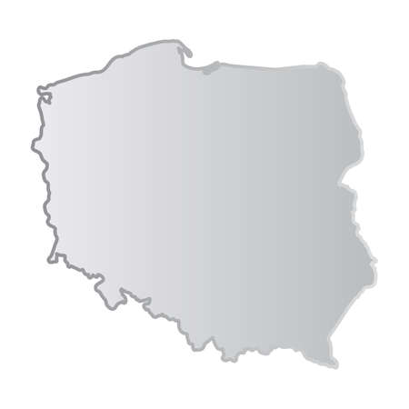 Simplified Map of Poland with Voivodeships, Regions or States. Polish Administrative Division Isolated on White Background Vector Illustration