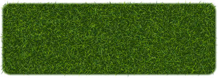 Fake green grass square background. Eco home concept with 3d vector turf football soccer field illustration isolated