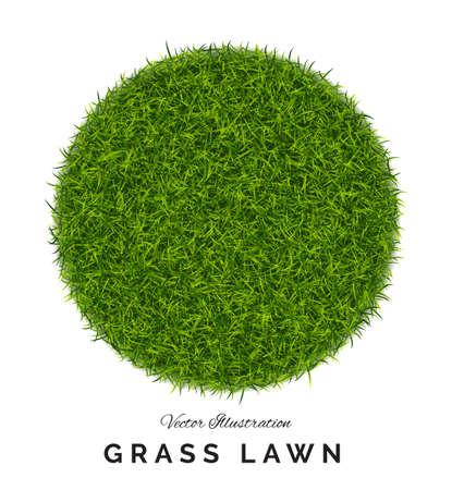 Fake green grass round background.