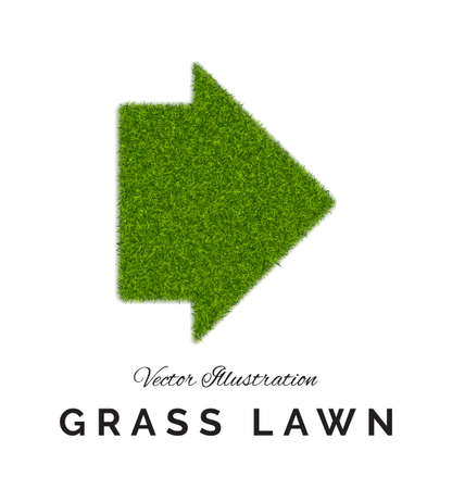 Fake green grass arrow background.
