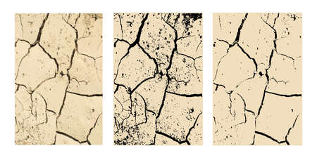Vector Wall Cracks Isolated Vector Illustration. Fracture Surface Effect or Broken Collapse Illustration