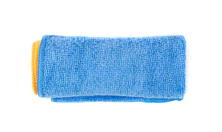 Blue Microfiber Cleaning Cloth Roll Isolated on White Background Stock fotó